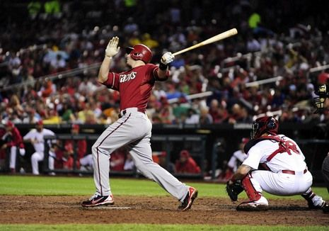 June 5 - Diamondbacks first baseman Paul Goldschmidt (44) hits a grand slam off of Cardinals relief pitcher Maikel Cleto during the seventh inning. PHOTO BY: Jeff Curry-USA TODAY Sports